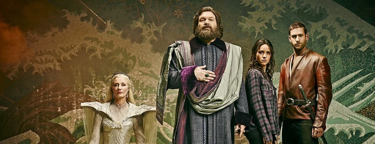 EMERALD CITY -- Season: 1 -- Pictured: (l-r) EMERALD CITY -- Season: 1 -- Pictured: (l-r) Joely Richardson as Glinda/North, Vincent D'Onofrio as Wizard/Frank, Adria Arjona as Dorothy Gale, Oliver Jackson-Cohen as Lucas/Roan -- (Photo by: Michael Muller/NBC)-- (Photo by: Michael Muller/NBC)